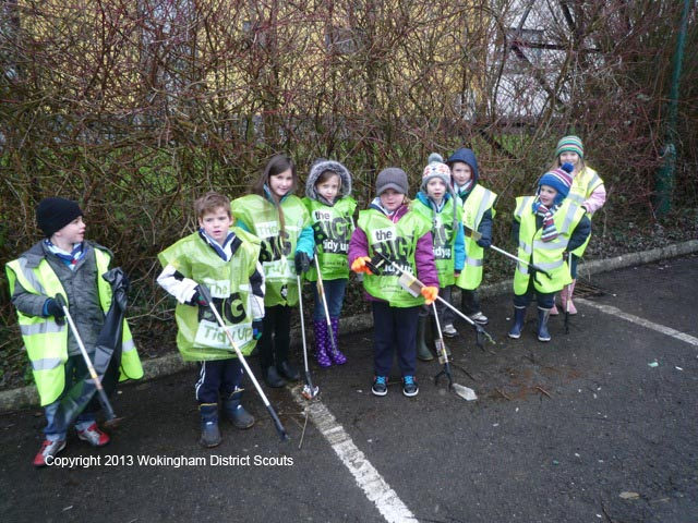 1st Woosehill Beavers- The Big Tidy Up